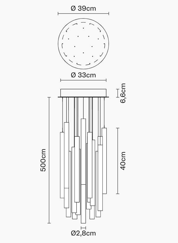 Lampada Multispot Tooby di Fabbian a 20 Luci in Alluminio e Diffusori in Vetro Borosilicato Trasparente, Diverse Versioni - Offerta di Mondo Luce 24