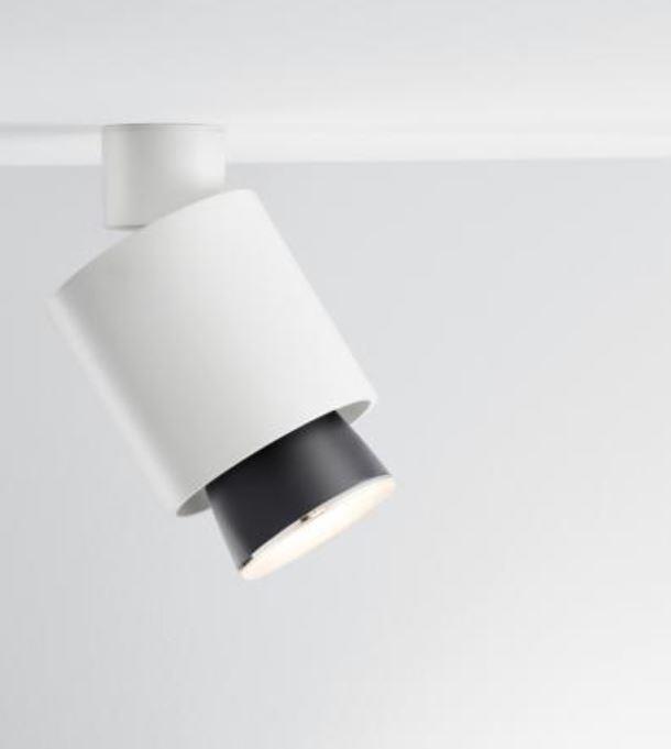 Lampada a Soffitto Claque di Fabbian in Alluminio con Diffusore Orientabile, Varie Finiture - Offerta di Mondo Luce 24
