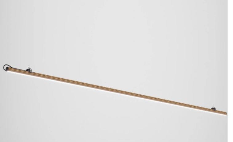 Barra con Strip per Lampada Freeline su Misura di Fabbian con Struttura in Alluminio, Varie Misure e Finiture - Offerta di Mondo Luce 24