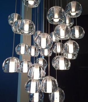 Lampada Multispot Beluga di Fabbian a 5 Luci con Diffusori in Vetro Cristallo Trasparente, Diverse Versioni - Offerta di Mondo Luce 24