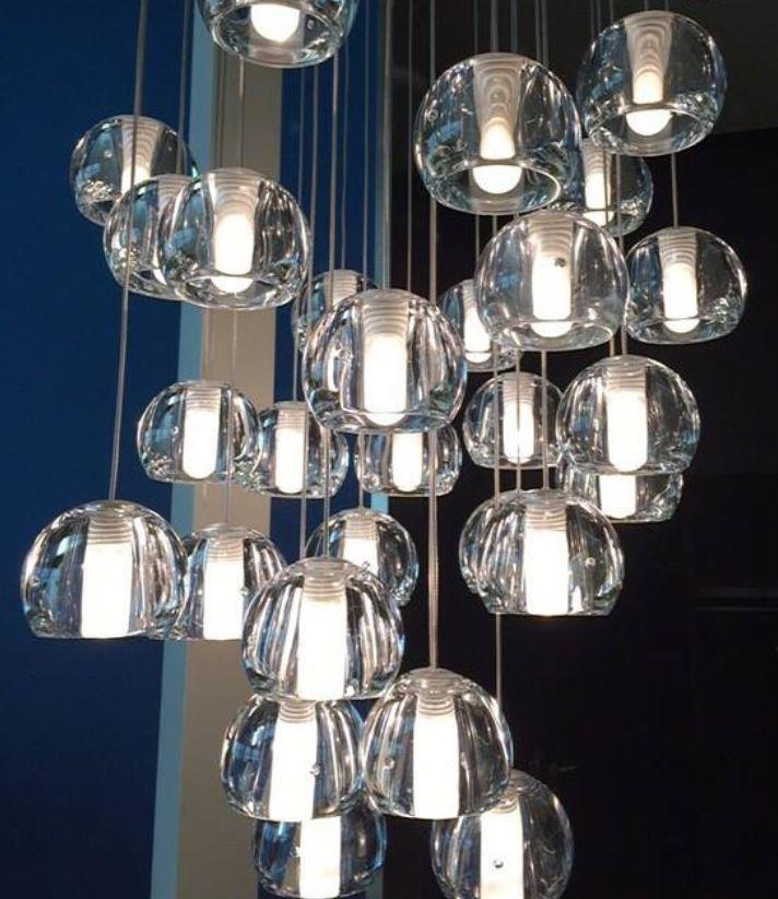 Lampada per Esterno Multispot Beluga di Fabbian a 5 Luci con Diffusori in Vetro Cristallo Trasparente, Diverse Versioni - Offerta di Mondo Luce 24