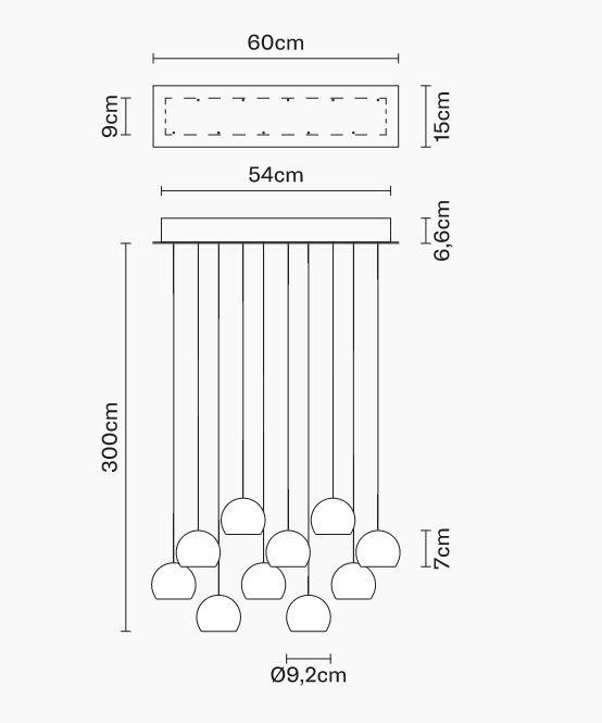 Lampada per Esterno Multispot Beluga di Fabbian a 10 Luci con Diffusori in Vetro Cristallo Trasparente, Diverse Versioni - Offerta di Mondo Luce 24