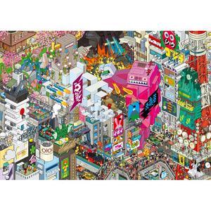 EBOY, STAMPA LAMINATA SU LEGNO 119X84 cm: TOKYO.