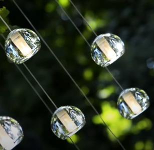 Lampada per Esterno Multispot Beluga di Fabbian a 20 Luci con Diffusori in Vetro Cristallo Trasparente, Diverse Versioni - Offerta di Mondo Luce 24