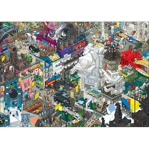 EBOY, STAMPA LAMINATA SU LEGNO 119X84 cm: PARIS.