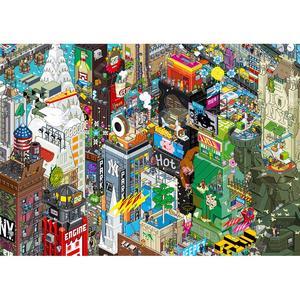 EBOY, STAMPA LAMINATA SU LEGNO 119X84 cm: NEW YORK.