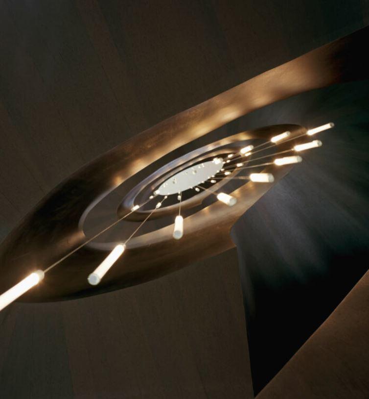 Lampada per Esterno Multispot Tooby di Fabbian a 10 Luci in Alluminio e Diffusori in Vetro Borosilicato Trasparente, Diverse Versioni - Offerta di Mondo Luce 24