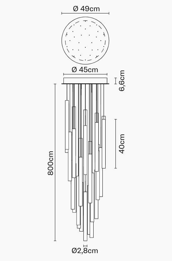 Lampada per Esterno Multispot Tooby di Fabbian a 30 Luci in Alluminio e Diffusori in Vetro Borosilicato Trasparente, Diverse Versioni - Offerta di Mondo Luce 24