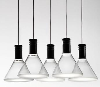 Lampada Multispot Polair di Fabbian a 5 Luci in Alluminio e Diffusore in Vetro Borosilicato Trasparente, Diverse Versioni - Offerta di Mondo Luce 24