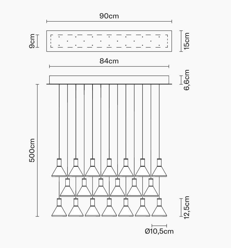 Lampada per Esterno Multispot Polair di Fabbian a 20 Luci in Alluminio e Diffusore in Vetro Borosilicato Trasparente, Diverse Versioni - Offerta di Mondo Luce 24