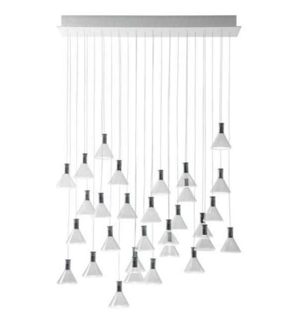 Lampada per Esterno Multispot Polair di Fabbian a 30 Luci in Alluminio e Diffusore in Vetro Borosilicato Trasparente, Diverse Versioni - Offerta di Mondo Luce 24