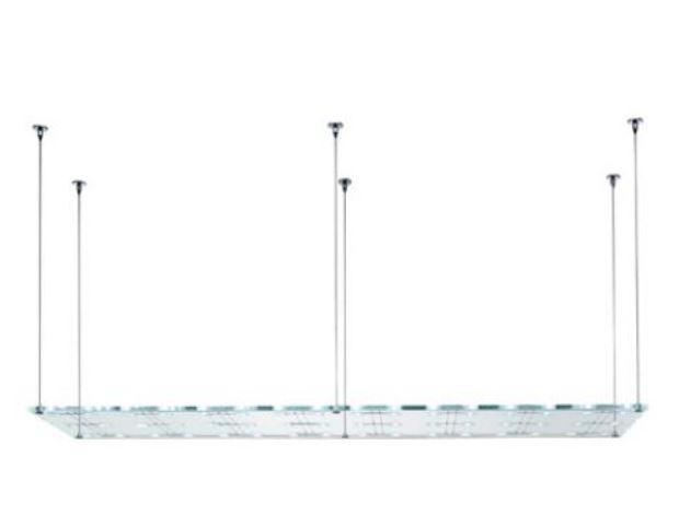 Lampada a Sospensione Sospesa di Fabbian in Vetro Extra Chiaro Temperato 200 x 50 e Metallo - Offerta di Mondo Luce 24