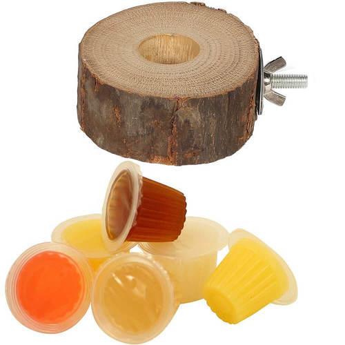 Porta Fruit Cups in Legno