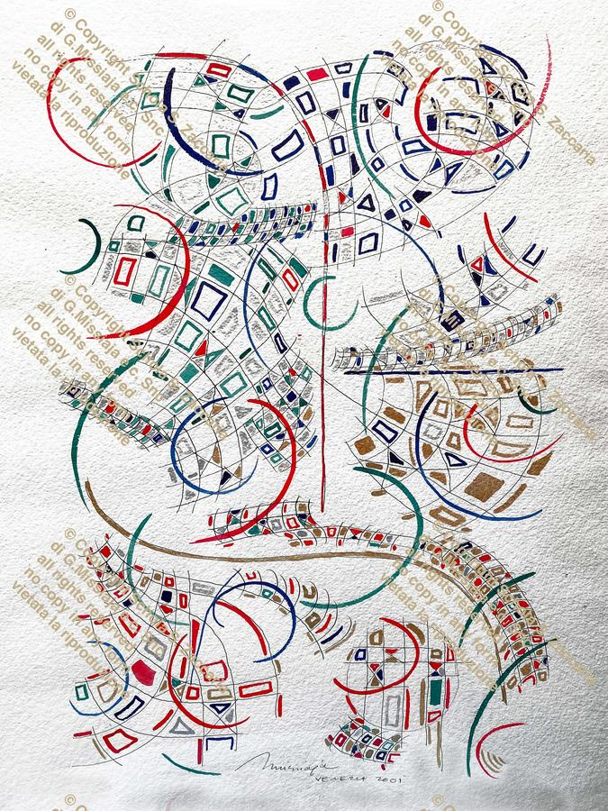 Planimetria del movimento di Arlecchino