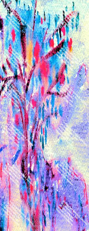 Interpretazione agreste rosso-bluette