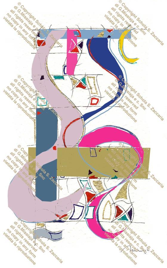 Collage per lampada a colori