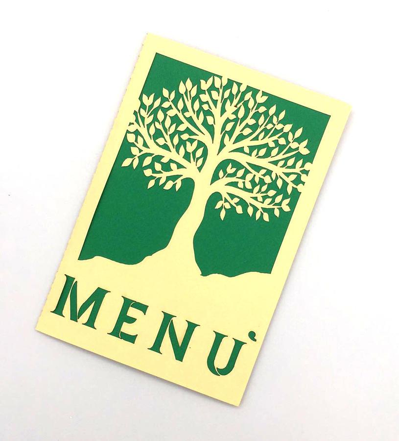 Porta menù in cartoncino bristol due colori a scelta personalizzabile