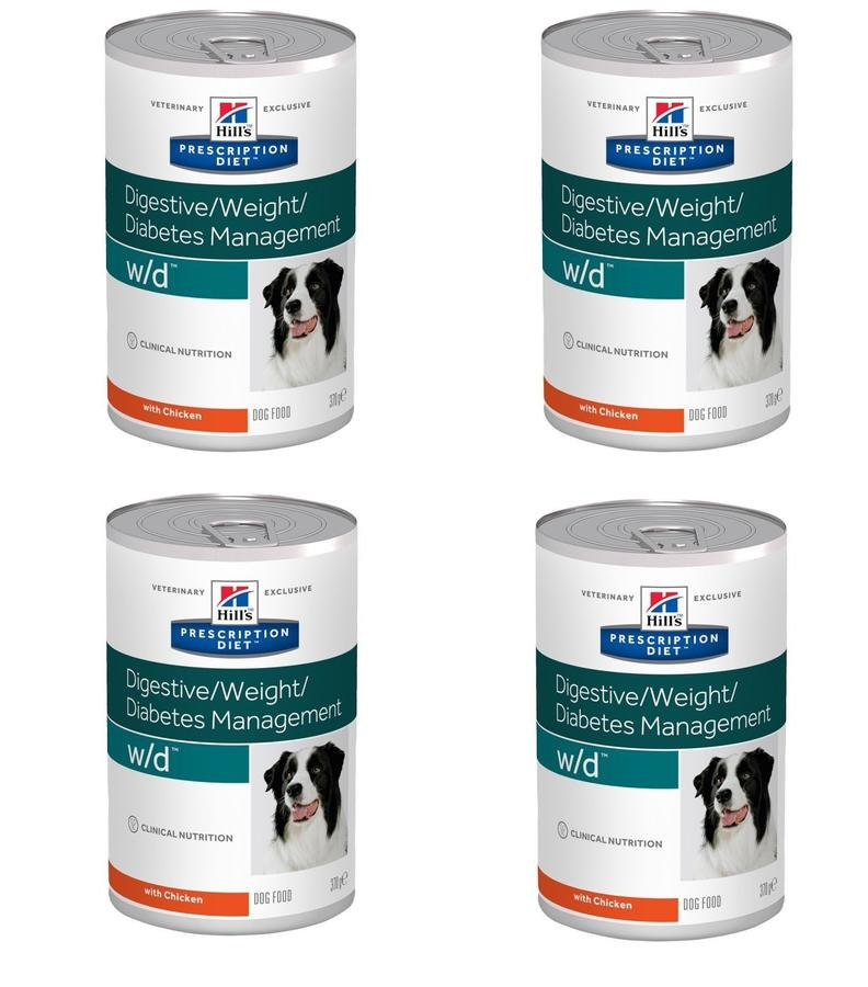 12 Lattine Hill's  w/d Digestive Weight Diabetes Management per Cani Diabetici Diabete