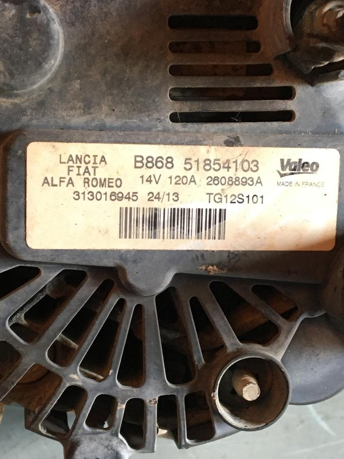 Alternatore Fiat 500-Panda 1300MJ  51854103 - 2608893A