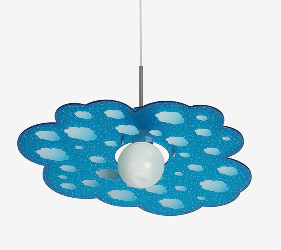 Lampada a Sospensione per Camerette Cloud di Emporium in Cristallo Acrilico Trasparente con Texture, Varie Finiture – Offerta di Mondo Luce 24