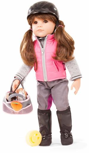 Bambola in Vinile Hannah Cavallerizza con il set da equitazione Edizione Numerata Originale di Gotz qualità Made in Germany
