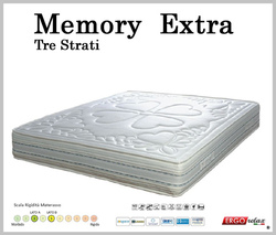Materasso Memory Mod. Extra Matrimoniale da Cm 160x190/195/200 Zone Differenziate Sfoderabile - Ergorelax