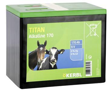 Pila a secco alcalina TITAN 9 Volt 170 Ah
