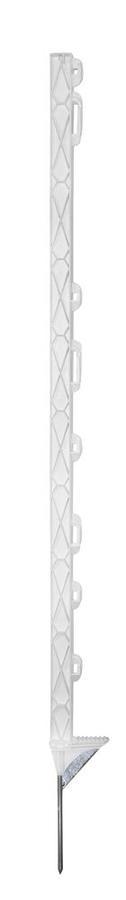 Palo di plastica Titan PLUS Bianco 110 cm con rinforzo metallico (5 pezzi)