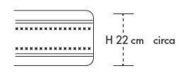 Materasso Memory Mod. Oceano 120x190/195/200 Altezza Cm. 22 - Ergorelax
