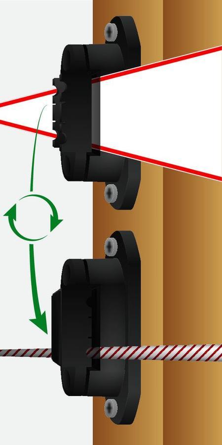 Isolatore per bande e fili per linee di recinti ed per angoli