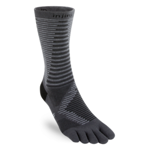 Calzini Injinji Run Light Weight Crew grigio scuro