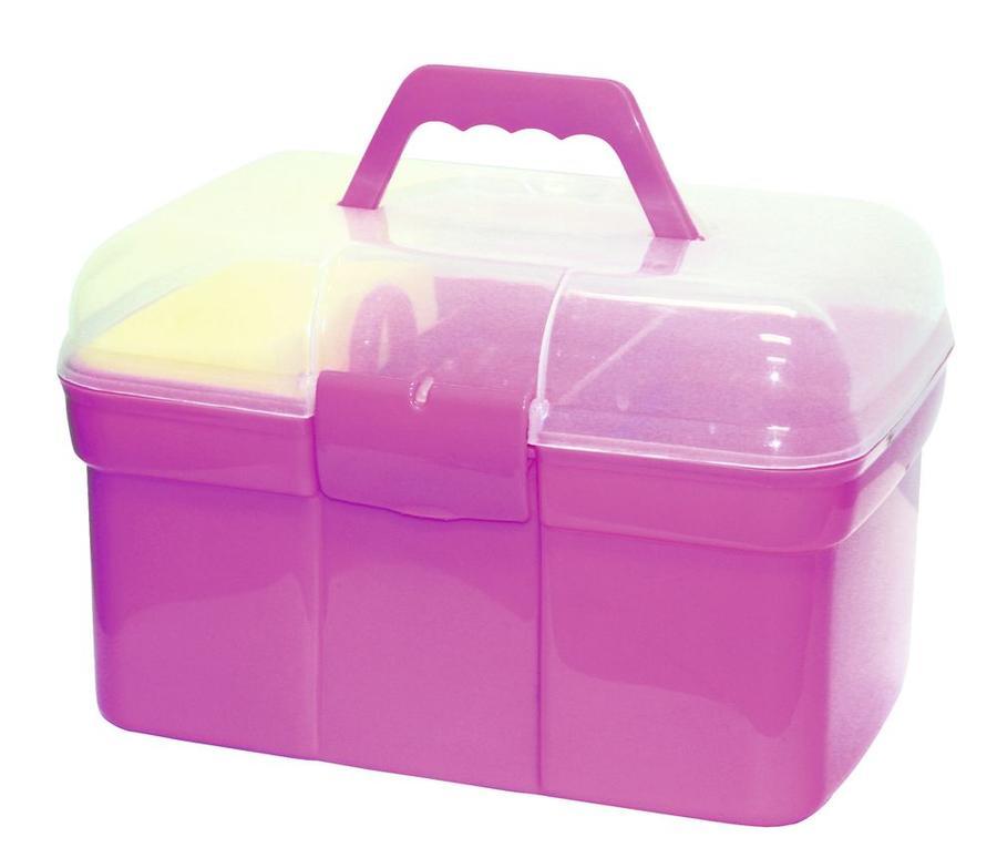 Bauletto Grooming Box colore rosa per ragazzi completo di 8 accessori