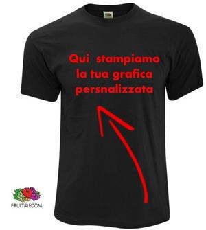 FRUIT OF THE LOOM T-SHIRT GIROCOLLO M/M UOMO CLASSICA CON STAMPA DIRETTA PERSONALIZZATA