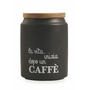 Villa d'Este Home Tivoli - Idee Barattolo Caffè Con Coperchio In Gres E Bamboo