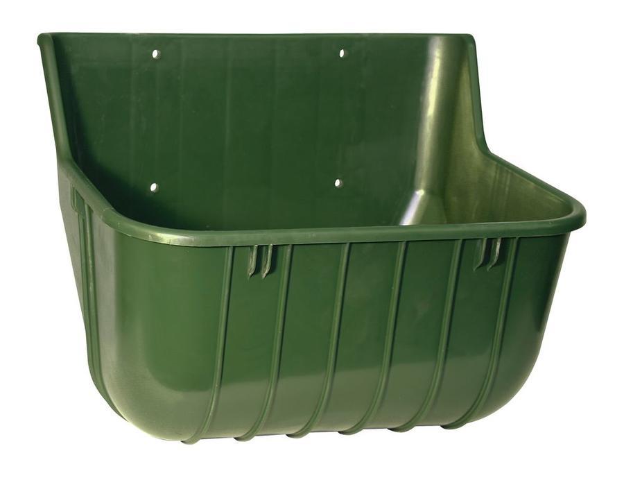 Mangiatoia da muro in plastica resistente in ABS, di forma rettangolare anti-spreco, capacità 15 litri