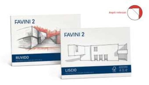 BLOCCO ALBUM DISEGNO LISCIO SQUADRATO FAVINI D3 10 FOGLI 33x48 - 110 gr