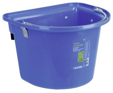 Mangiatoia da gara o da trailer con staffa e maniglia colore Blu 12 litri