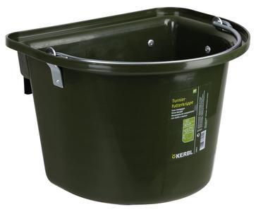 Mangiatoia da gara o da trailer con staffa e maniglia colore Verde 12 litri