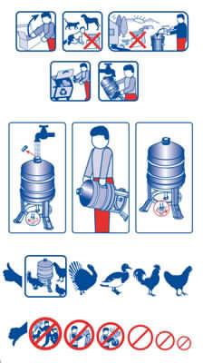 Abbeveratoio per pollame serbatoio 30 litri