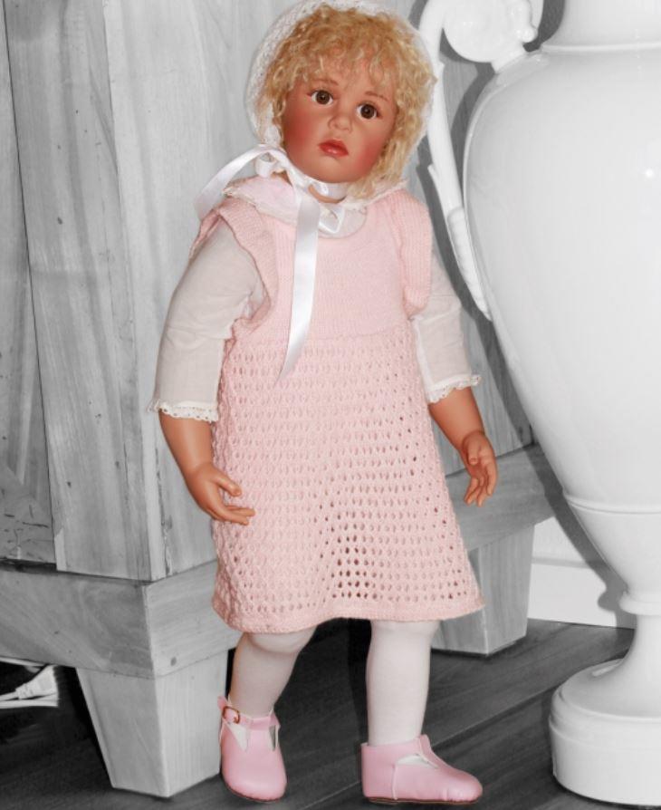 """Bambola da Collezione Vinile """"Susie di Sissel B. Skille"""" dallo Sguardo Dolcissimo, edizione limitata 750 pezzi Gotz Made in Germany"""