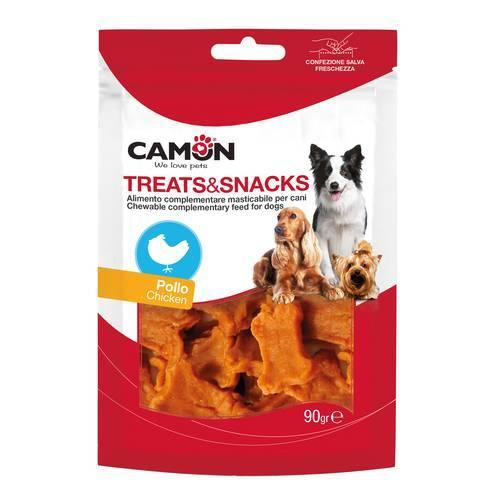 Camon AE019 Snack Masticabile al Pollo Per Cani Osso Senza Additivi