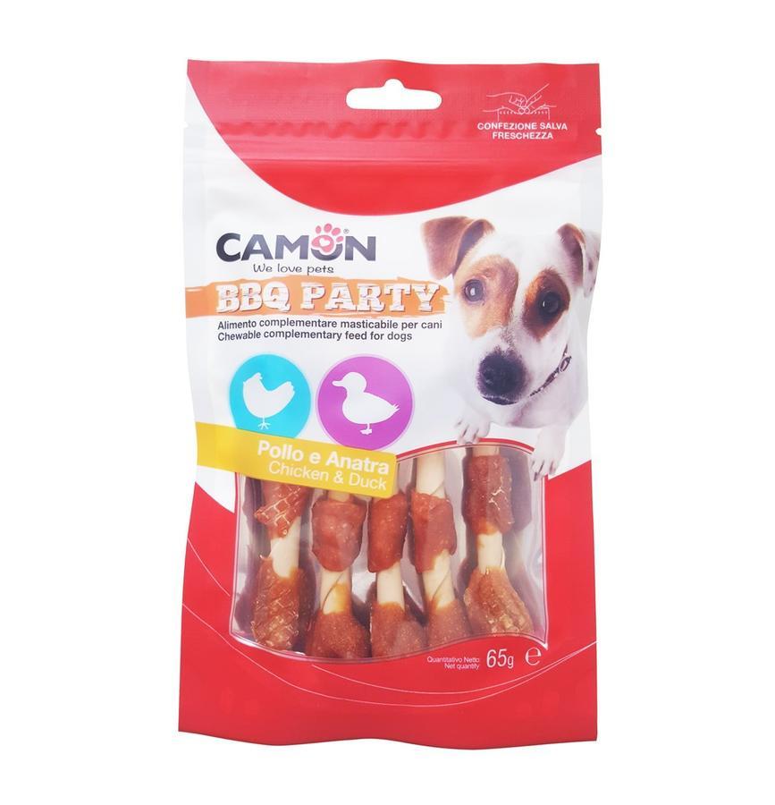 Camon AE900 BBQ Party Snack Per Cani Stick Ossi Masticabili Pollo e Anatra