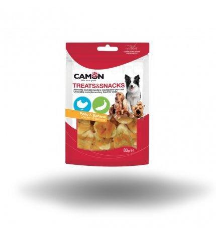 Camon AE020 Snack Per Cani Pollo e Banana Frutta Naturali Senza Additivi