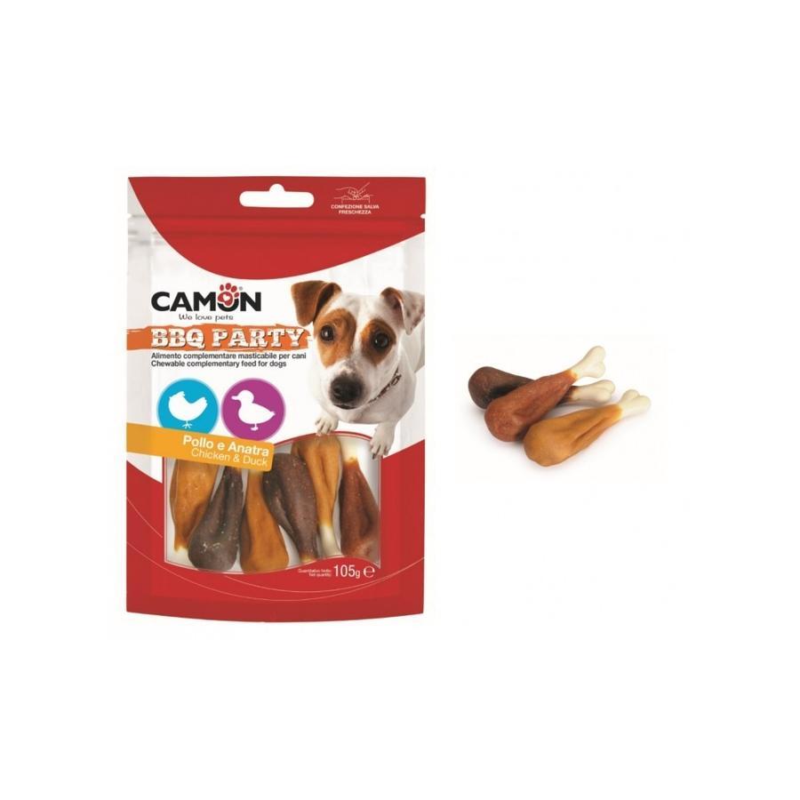 Camon AE904 BBQ Party Snack Per Cani Cosce Di Pollo e Anatra Ossi Masticabili