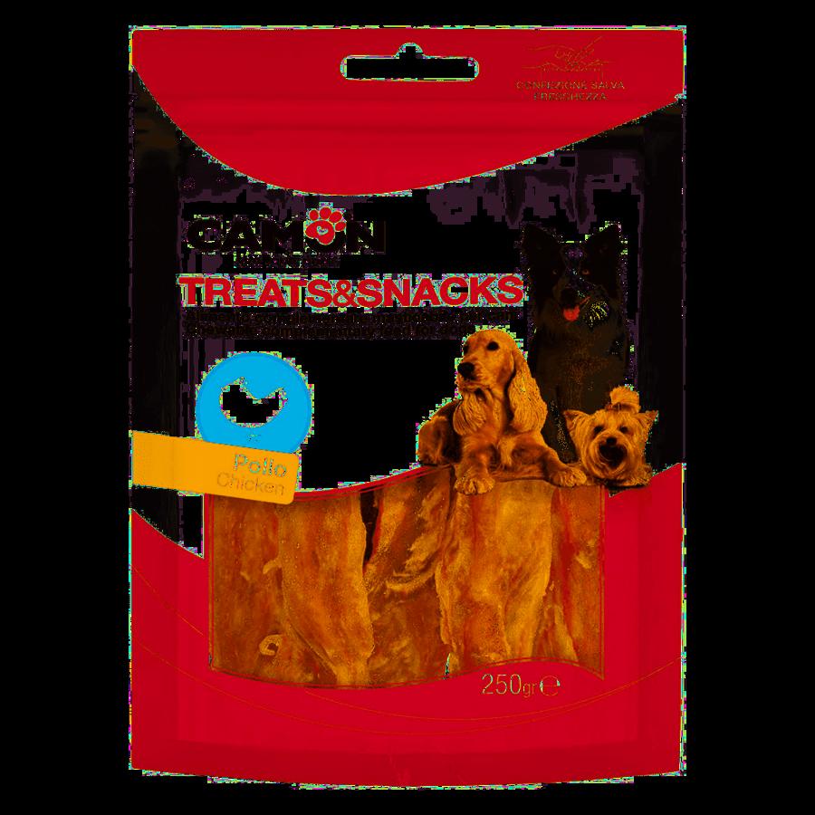 Camon AE031 Snack Per Cani Masticabili Stick Pollo Confezione Maxi 250g