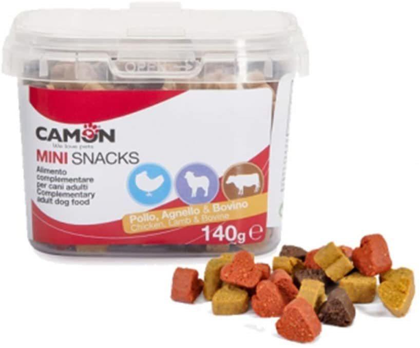 Camon AE053 Mini Snack Per Cani Piccola Taglia Cuoricini Pollo Agnello e Bovino
