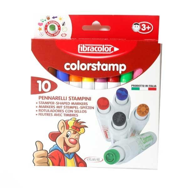 Pennarelli Fibracolor Colorstamp 10 Lavabile