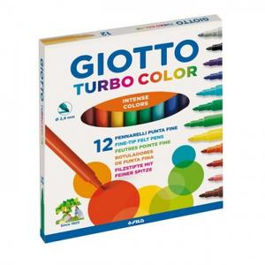 Pennarelli Giotto Turbo color. Scatola 12 colori assortiti