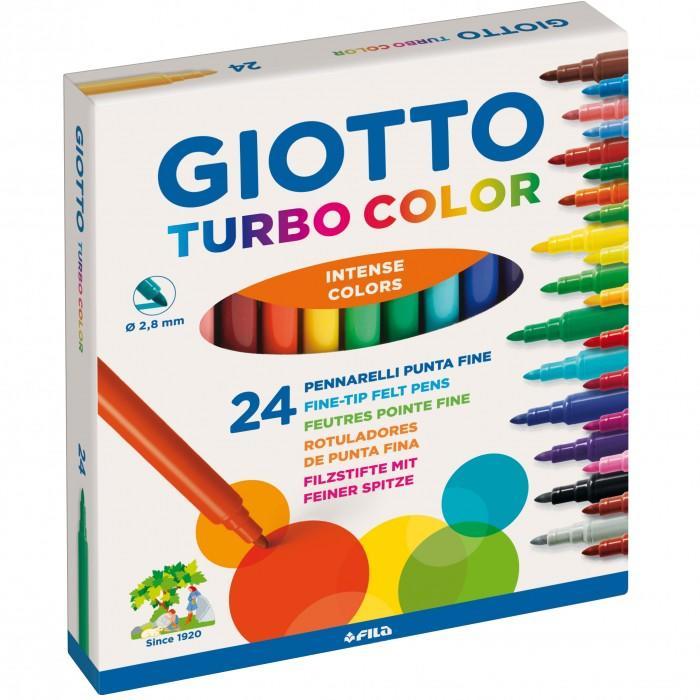 Pennarelli Giotto Turbo color. Scatola 24 colori assortiti