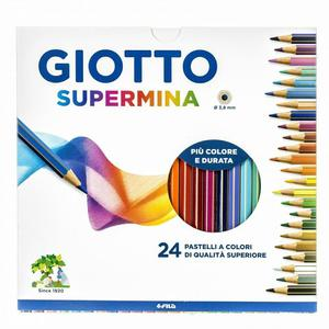 Pastelli Giotto Supermina. Scatola 24 matite colorate assortite